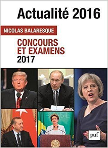 Actualité 2016 : Concours et examens 2017 - Nicolas Balaresque