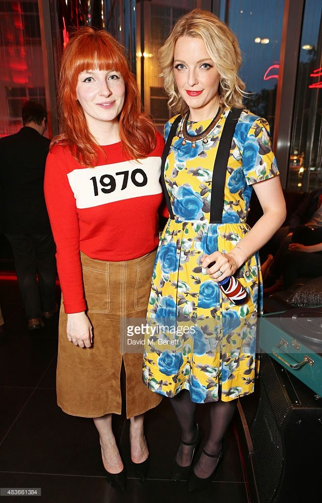 Alice Levine (L) and DJ Lauren Laverne attend the launch of W London - Leicester Square's Britpop Vinyl Collection curated by DJ Lauren Laverne at W London - Leicester Square on August 11, 2015 in London, England.