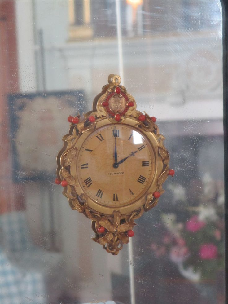 Clock from the Marchioness of Ailsa's vanity set.  A wedding gift by the 3rd Marquis to Lady Evelyn Stuart.