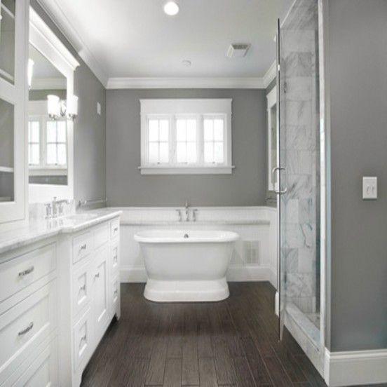 Grey Tile Wood Floor Bathroom Wood Tile Bathroom Bathroom Color Schemes Wood Floor Bathroom