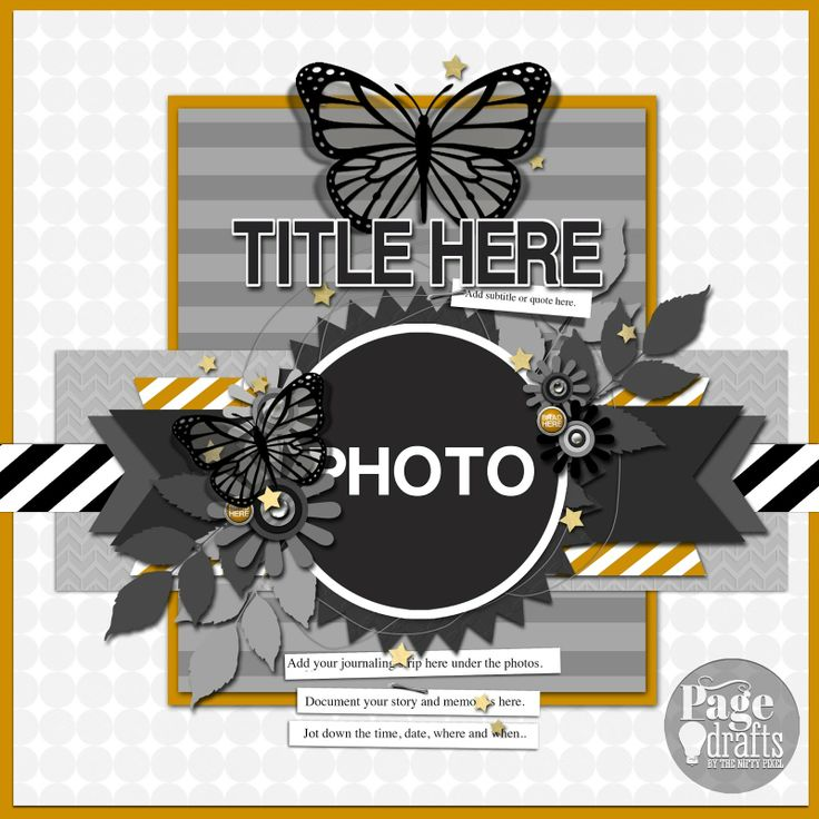 HAPPY NEW YEAR, RELEASE Page drafts scrapbook sketch layout