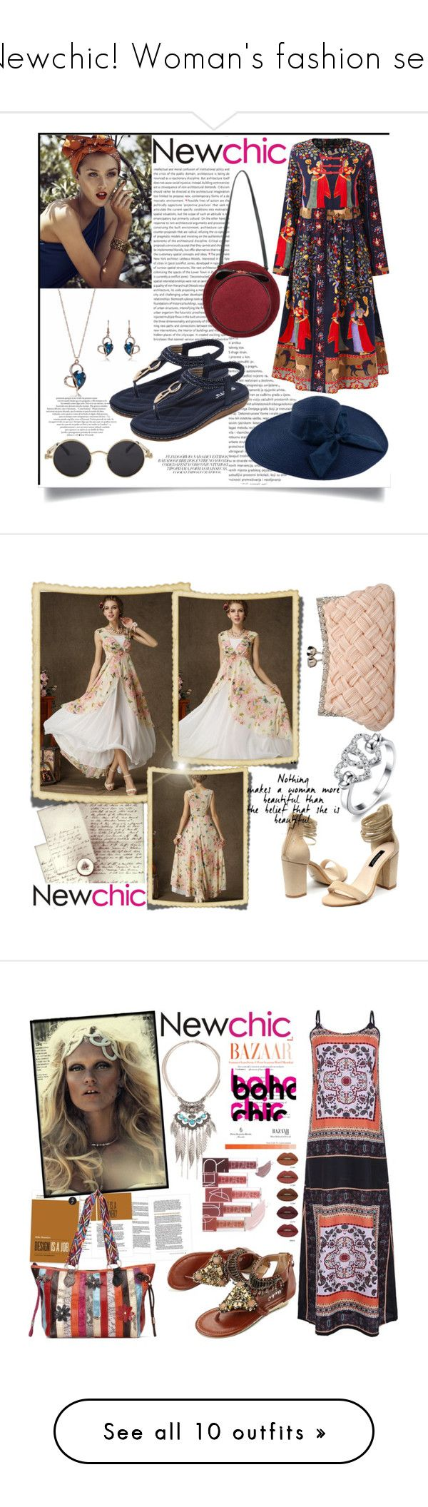 """""""Newchic! Woman's fashion sets"""" by mery-2601 ❤ liked on Polyvore featuring modern, Trendy, newchic, lovenewchic, DUO, WALL, vintage and Calvin Klein"""