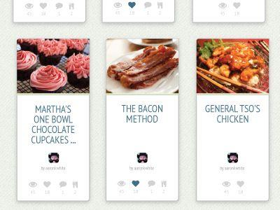 20 best food oriented design images on pinterest design web recipe cards forumfinder Images