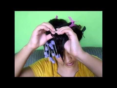 Texturização com bigudins comum(Transição Capilar) - YouTube