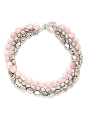 KEP Pink & Grey Triple Strand Necklace