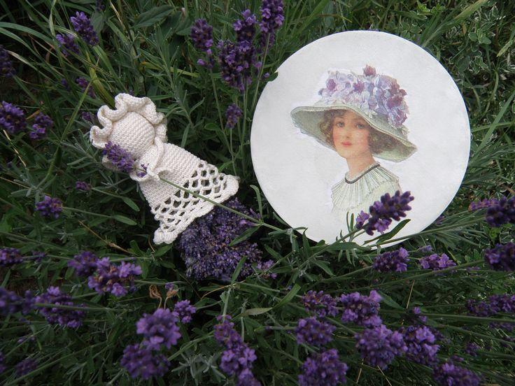My crocheted lavender doll