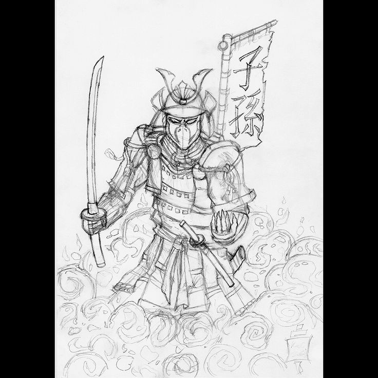 Samurai Spawn | pen drawing | 2014 on Behance