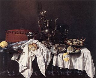 Still Life with Pie, Silver Ewer and Crab by Willem Claeszoon Heda (1658) Oil on canvas Frans Hals Museum, Haarlem