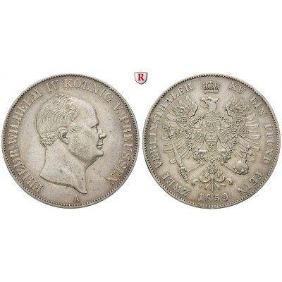 Brandenburg-Preussen, Königreich Preussen, Friedrich Wilhelm IV., Vereinsdoppeltaler 1859, ss-vz: Friedrich Wilhelm IV. 1840-1861.… #coins