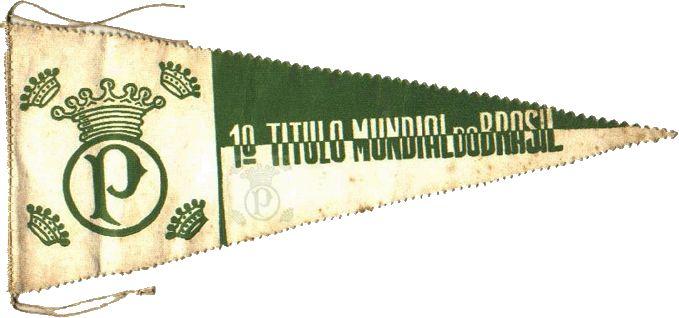 Flâmula da conquista da Copa Rio 1951 - Título foi reconhecido como a primeira conquista mundial do Brasil
