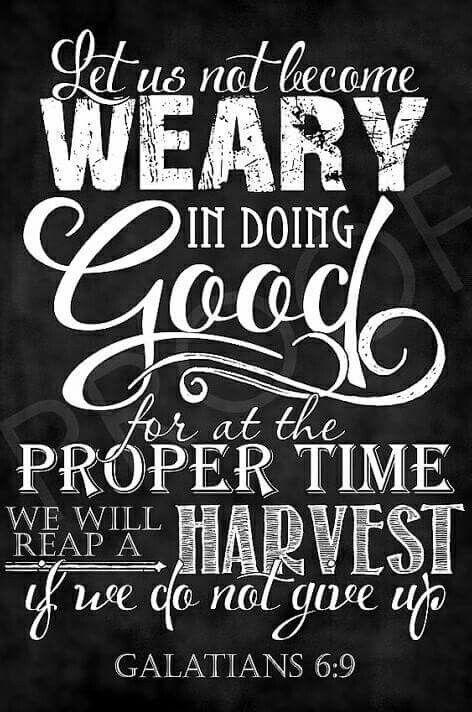Keep doing good!