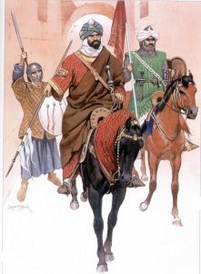 Emir of the Almohad dynasty Yaqub al-Mansur with his bodyguard, Yakub al-Mansur reigned from 1184 to 1199 with distinction.
