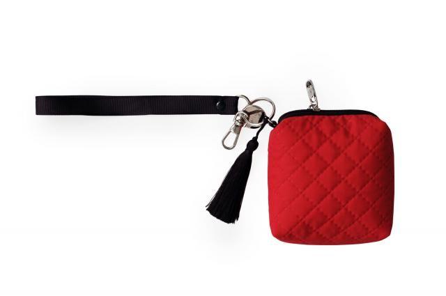 Red minibag. Etui na smoczki, gryzaki i drobiazgi - czerwień #bag #red #minibag