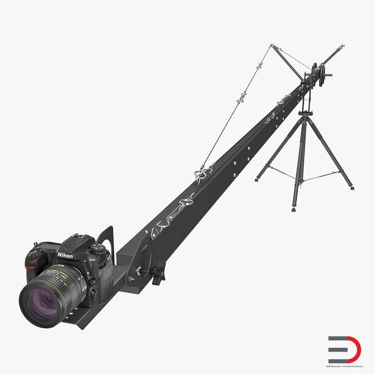 3D Nikon D500 on Professional Camera Crane model