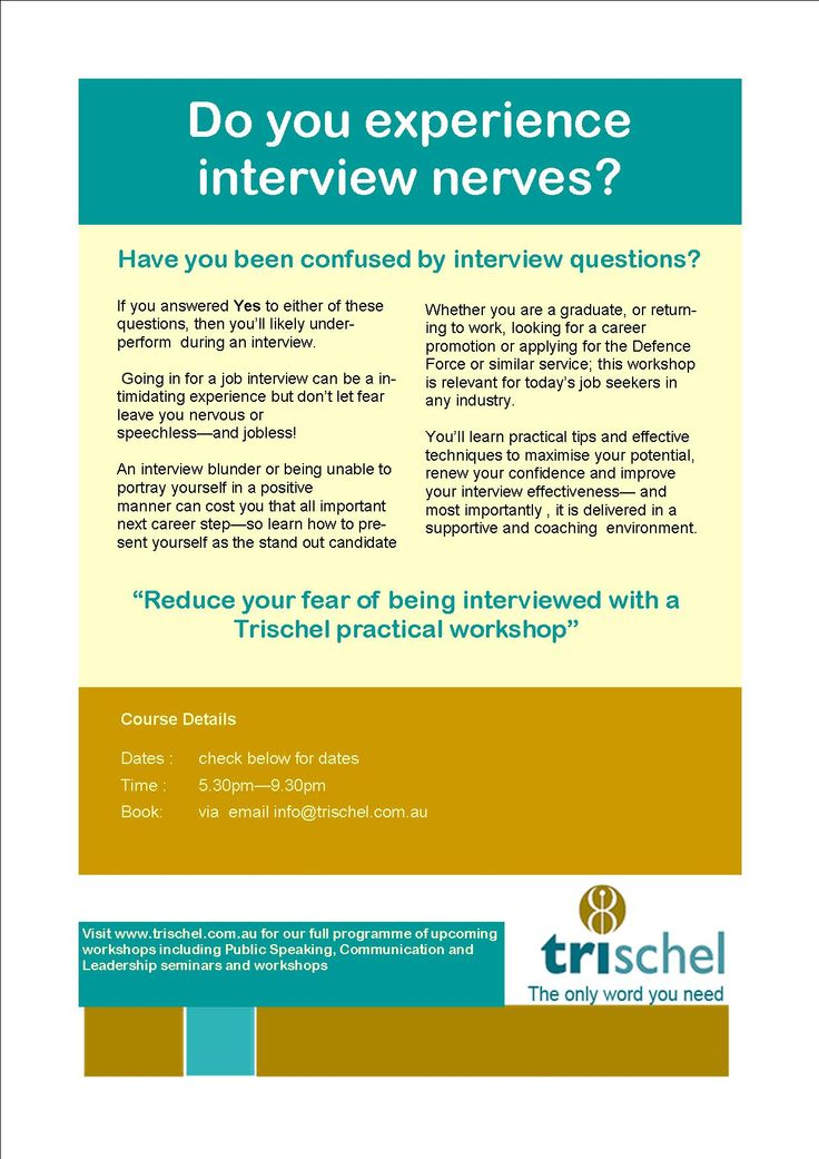 Interview Skills Workshop - tips and techniques on effective - interview workshop