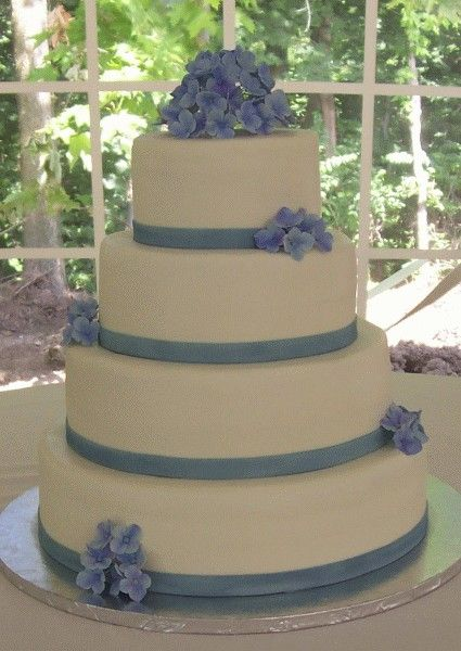 Don't really need this many layers, but It's super simple and classy and would go with the rest of the hydrangeas.
