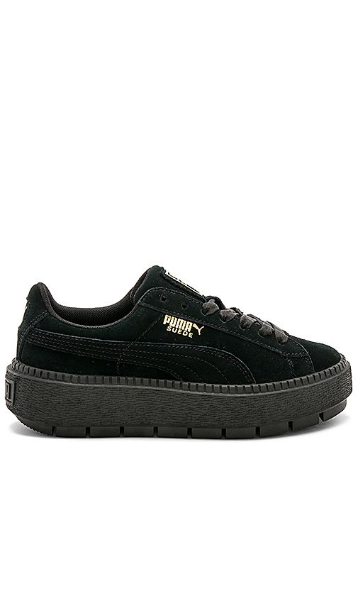 Shop for Puma Suede Platform Rugged Sneaker in Puma Black & Puma Black at REVOLVE. Free 2-3 day shipping and returns, 30 day price match guarantee.