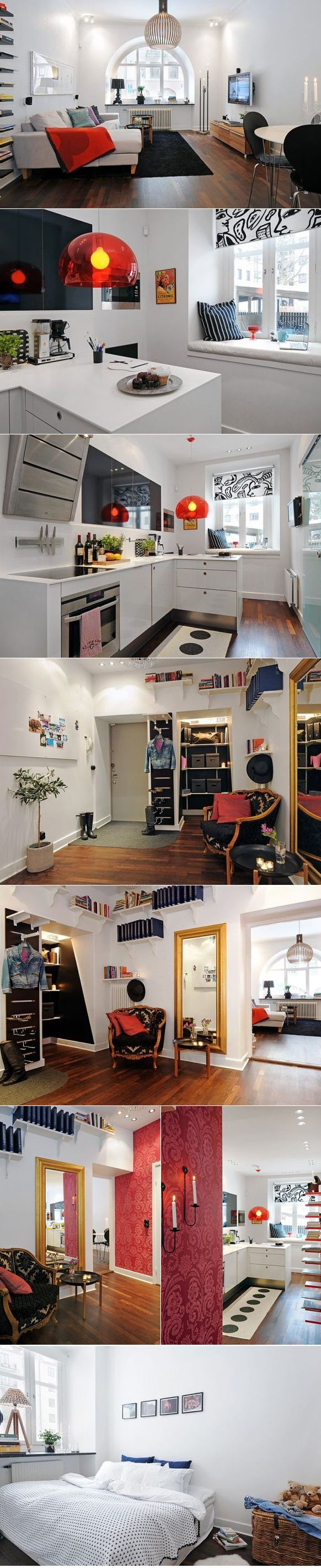 Ok, so it's not tiny. But, it gives me good ideas for making a small space feel open.