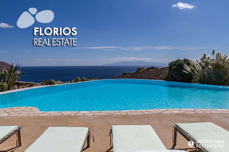Indulge yourself in this luxurious residence overlooking Agrari beach & enjoy the unobstructed view of the Aegean Sea by the pool! FL1494: Villa for Sale on Mykonos island Greece (6 b/r – 6 baths)  http://www.florios.gr/en/Villas-For-Sale-Mykonos-Island-Greece.html