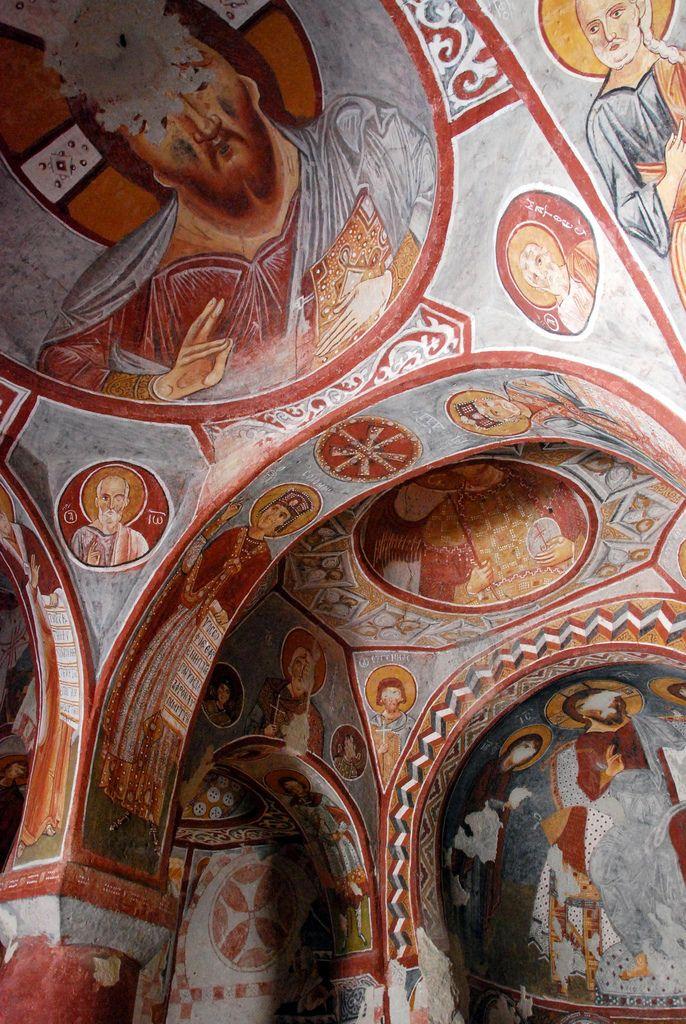 cave church ceiling, cappadocia,Turkey