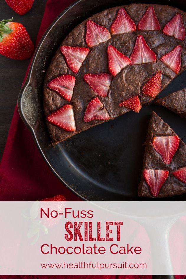 No-Fuss Skillet Chocolate Cake (Gluten-free + Paleo)