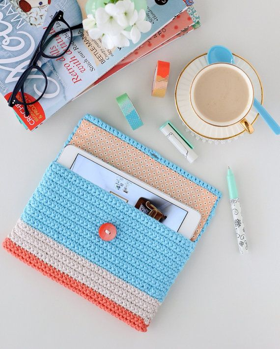 Ipad Mini Case Pocket Crochet Ipad Mini Cover Gadget by deconoHut
