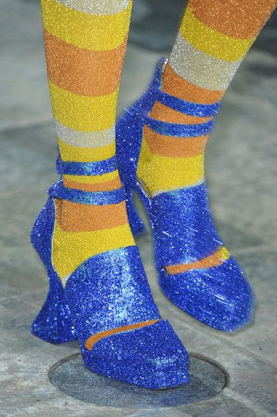 Follow the yellow brick road....to fashion hell.   Meadham Kirchhoff Fall 2012