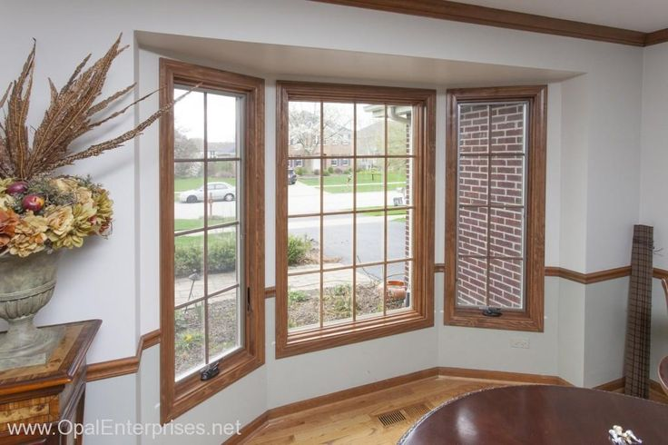 Andersen casement windows custom stained by opal for Anderson replacement windows