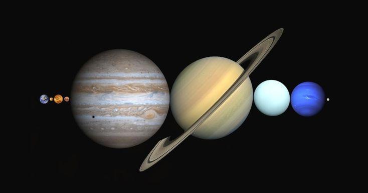 Somando o diâmetro aproximado dos quatro planetas gasosos gigantes (Júpiter, Saturno, Urano e Netuno) com o dos quatro planetas com superfícies terrestres (Mercúrio, Vênus, Terra e Marte) temos, nesta ordem: 143 mil km + 120 mil km + 51 mil km + 49 mil km + 4,9 mil km + 12,1 mil km + 12,8 mil km + 6,8 mil km = 398,6 mil km. Ou seja, um pouquinho mais que a distância média Terra-Lua, que segundo o físico Roberto Costa, tem aproximadamente 384 mil km