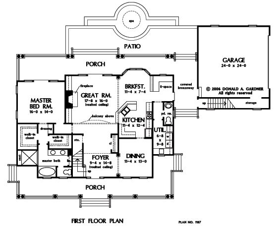 The valleygate house plan images see photos of don for Gardner flooring