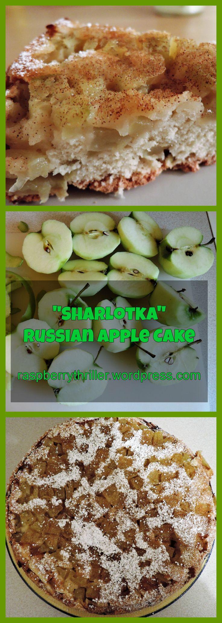 Sharlotka Russian Apple Cake