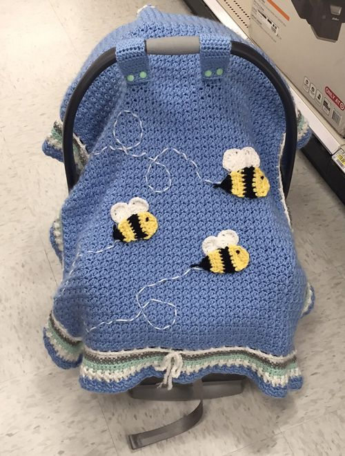 Basic Car Seat TentThis crochet pattern / tutorial is available for free... Full post: Basic Car Seat Tent