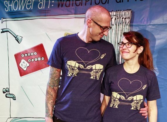 Star Wars Shirt: AT-AT Love Unisex Crew Neck Star Wars by UglyBaby