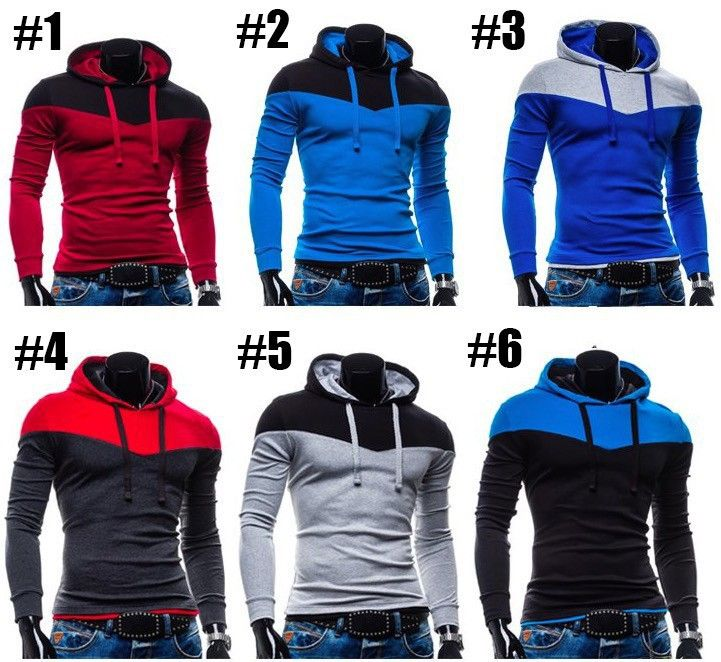Two Colors Napping Casual Men's Sweatshirts Hooded Collar Men Coats 6 Colors - GET IT NOW CLICK HERE  http://stylishaccessory.com/new-arrival-fashion-mens-hoodies-patchwork-two-colors-napping-casual-mens-sweatshirts-hooded-collar-men-coats-6-colors/