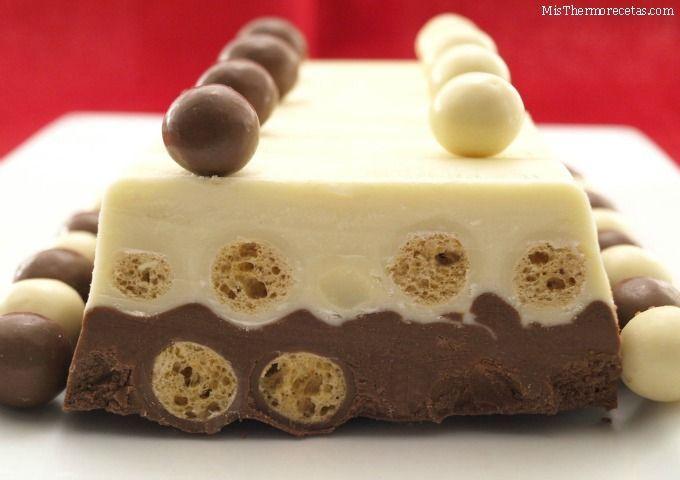 Turrón dos chocolates con Maltesers - MisThermorecetas.com