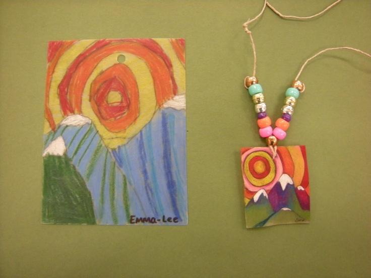 Tart--Teaching Art with Attitude  shrinky dinks