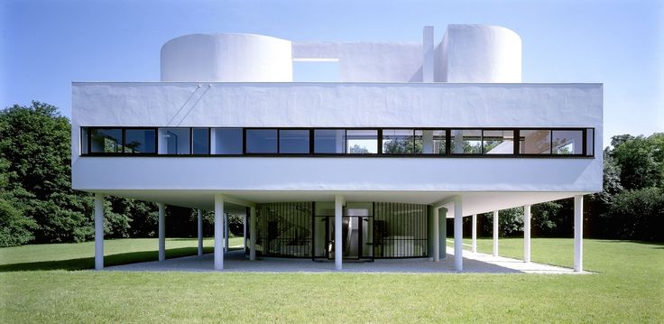 La Villa Savoye in suburban Paris. Le Corbusier kills me.