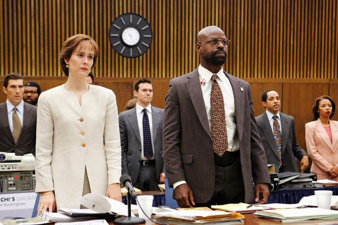 The People vs OJ Simpson . Marcia Clark & Chris Darden