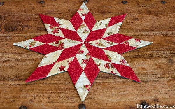 #quilting #patchwork  http://www.littlewoollie.co.uk/blogs/news/10251105-christmas-patchwork-workshop-14th-december
