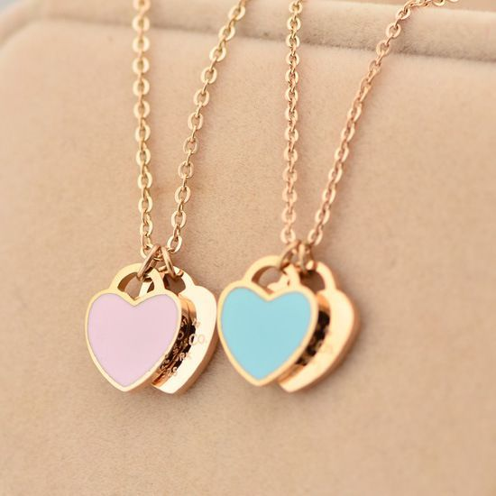 Women's 18K Rose Gold Love Heart Necklace for Girlfriend if only in silver or white gold
