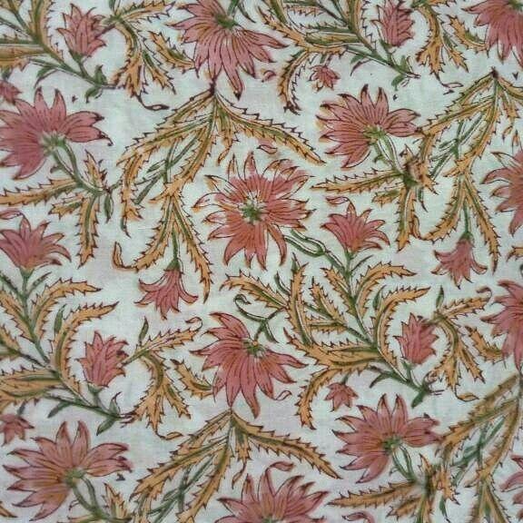 Hand block Print #Soft Cotton Fabric #Indian Hand Block #Jaipuri Cotton #pure Cotton