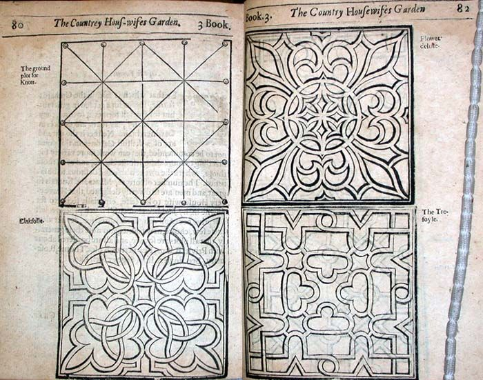 A New Orchard and Garden by William Lawson (1553-1635). Knot plans.