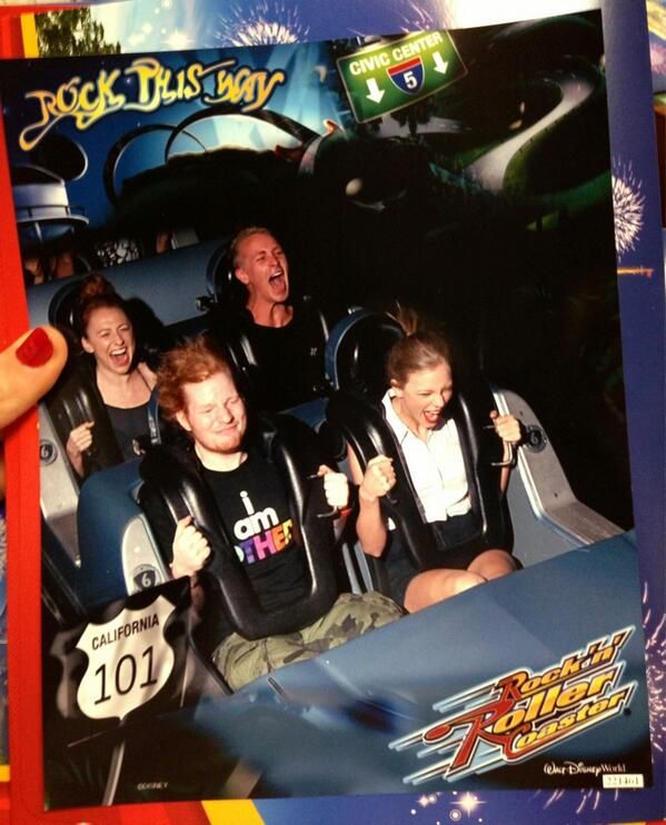Ed Sheeran and Taylor Swift - imagine being he couple that road Rock-n-Roller Coaster with Ed Sheeran and Taylor Swift