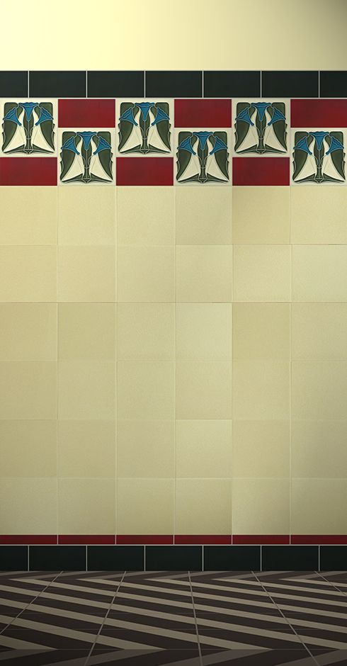 354 best Art Nouveau tiles images on Pinterest | Art deco art ...