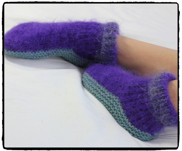 Handknitted WOOL and MOHAIR HOUSE shoes slippers bedsocks unisex old fashioned comfort house shoes and slippers by footfetishsocks on Etsy