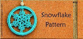 Schema per realizzare fiocchi di neve all'uncinetto da usare come decorazioni, orecchini, e tanto altro. | Crochet snowflake pattern.