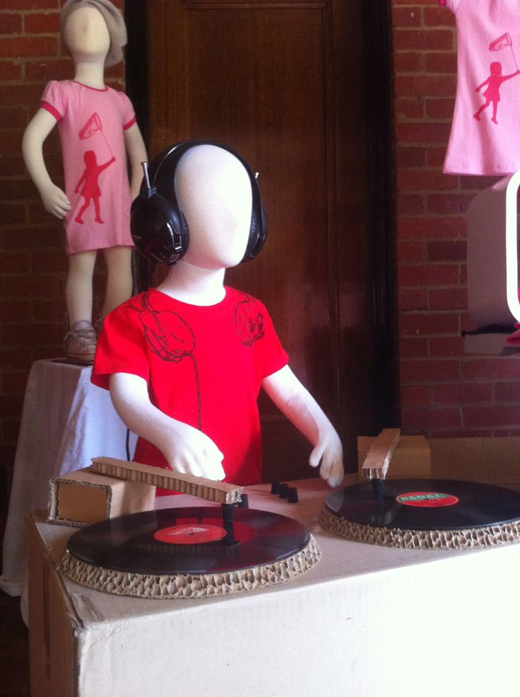 Love this little DJ that Craig whipped up to display our Headphones tee.
