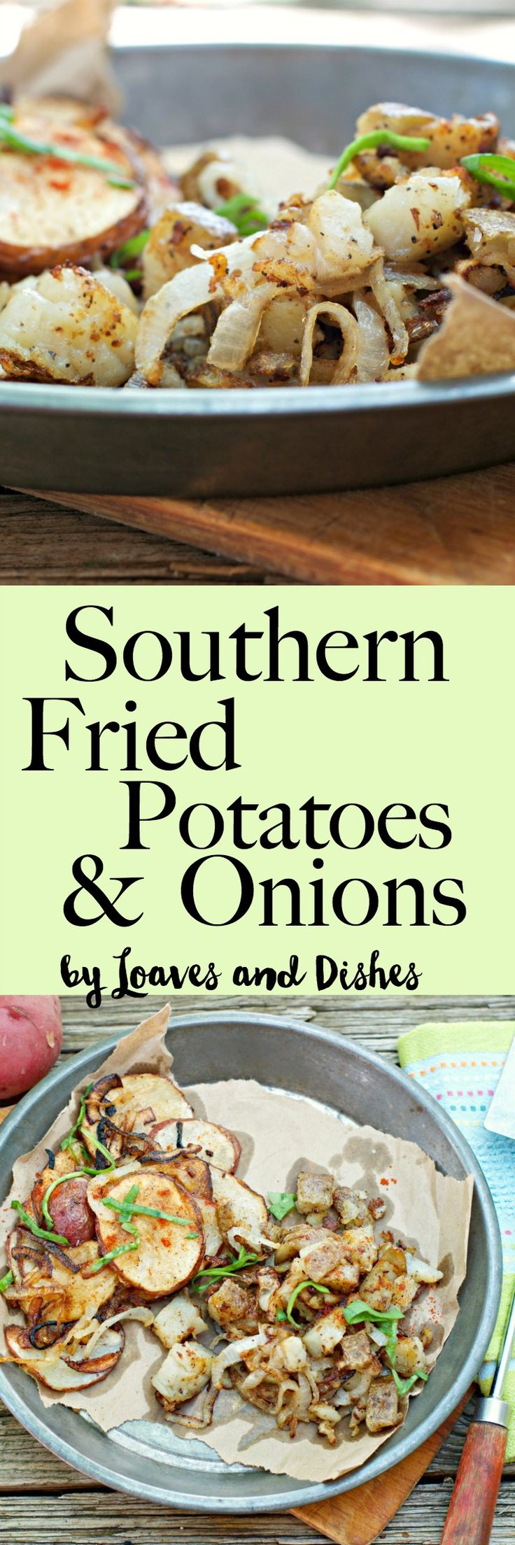 This recipe is for fried potatoes and onions in the old southern way made in a cast iron pan. Sliced and pan fried for healthy home fries. Simple. skillet fries, breakfast food gone wild, Crispy meals from the deep south.