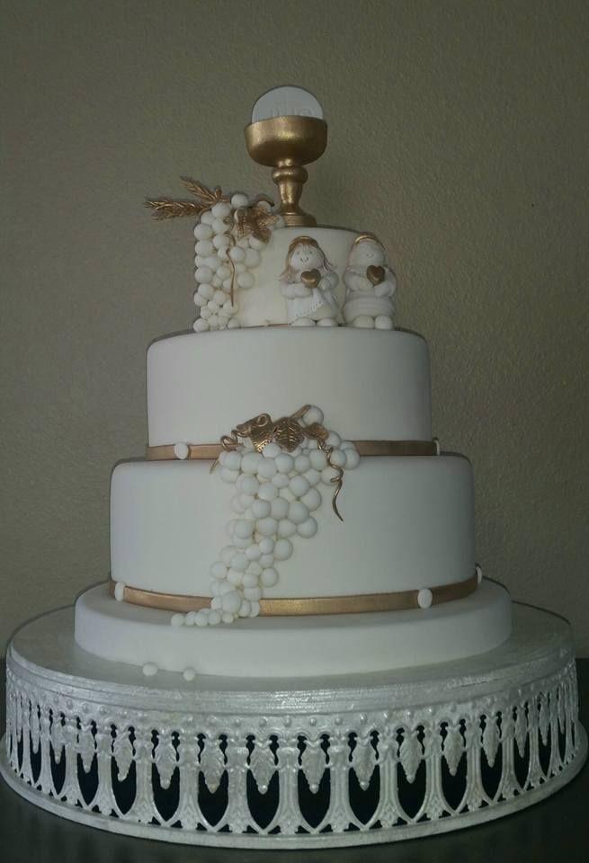 Fondant First communion Cake