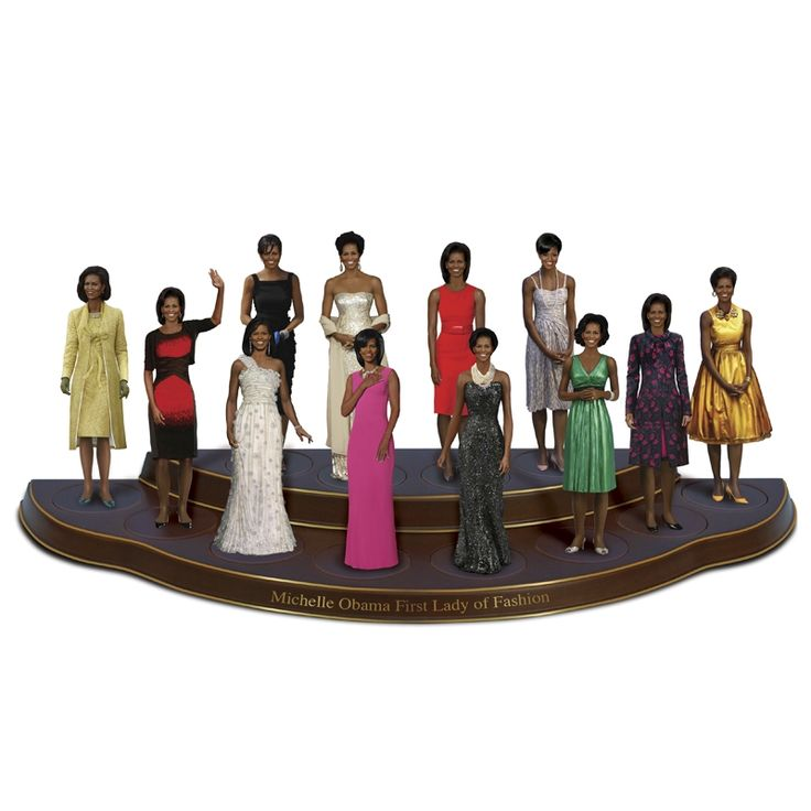 Michelle Obama: First Lady of Fashion Figurine Collection